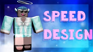 ROBLOX Speed Design || Pastel Mint Blue Dress