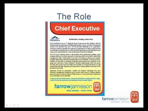 Sport Auckland - Chief Executive