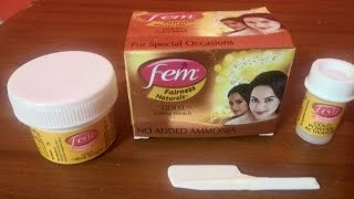 fem gold bleach review ll how to apply fem bleach at home ll fem bleach kise kare ghar par