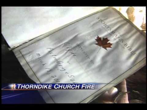 Thorndike Church rebuilds after fire