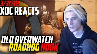 xQc Reacts to old Overwatch Roadhog Hook + LiveStreamFails