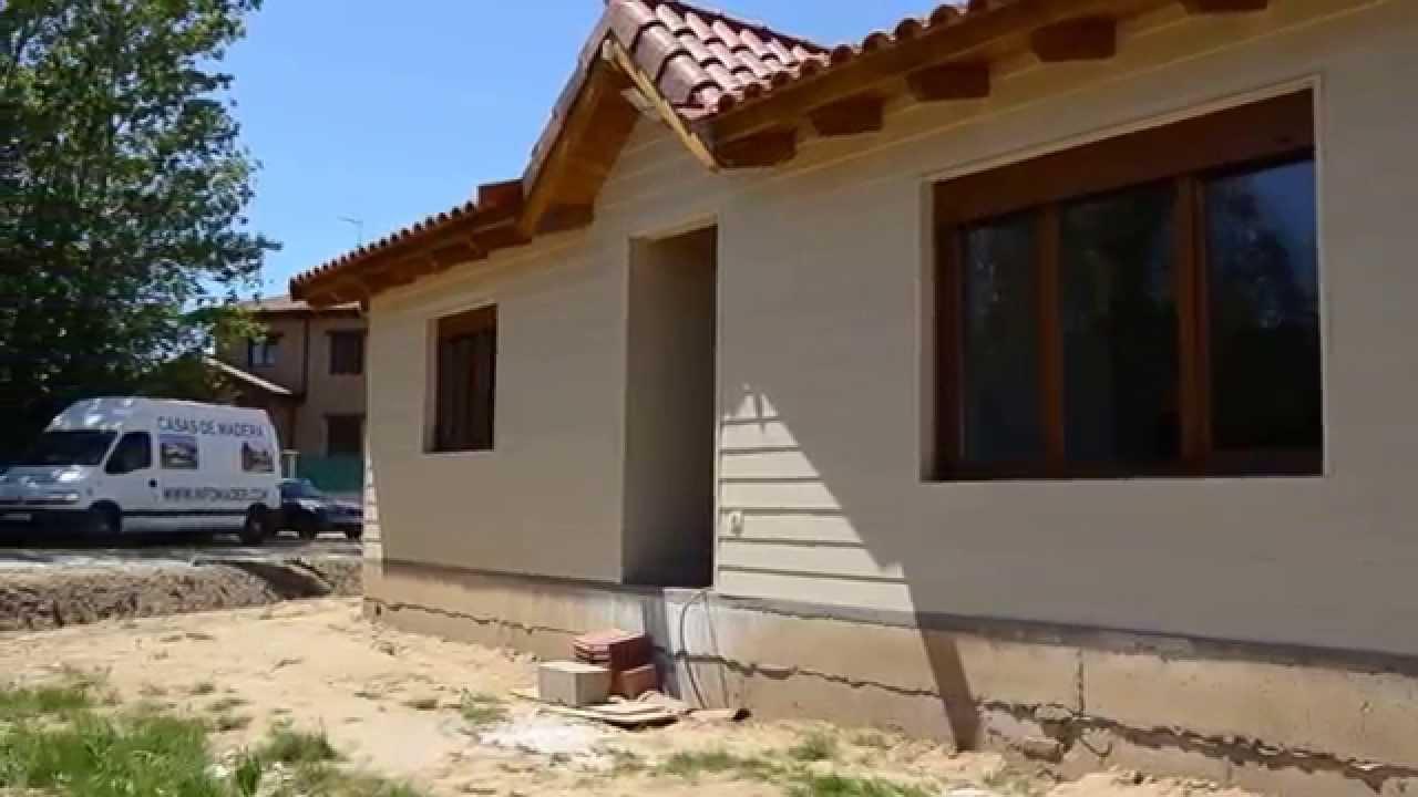 Casa prefabricada de madera con pladur y fibrocem youtube - Casas prefabricadas con ruedas ...