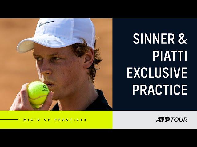 Sinner & Piatti Hit The Clay In Rome