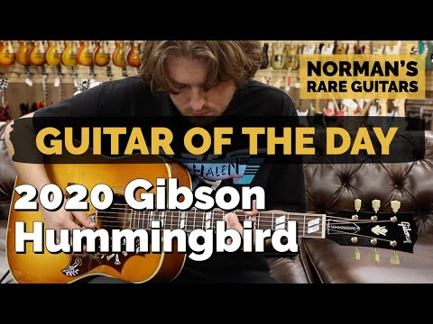 Guitar of the Day: 2020 Gibson Hummingbird Acoustic/Electric | Norman&39;s Rare Guitars