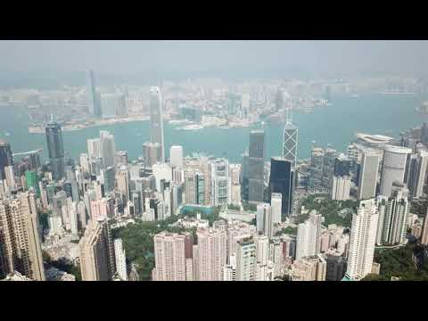 Drone over Hong Kong