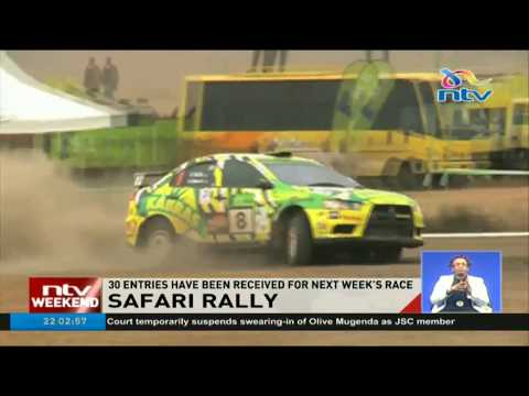 30 entries have been received for next week's safari rally