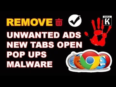How To Stop/Remove Unwanted New Tabs Pop Ups Malware Adware And Redirect Malware In Chrome/Firefox