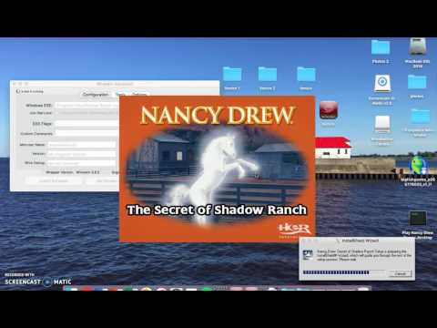 How To Play PC Games On Mac! (Wineskin) ( 2 Disc) (Nancy Drew Games)