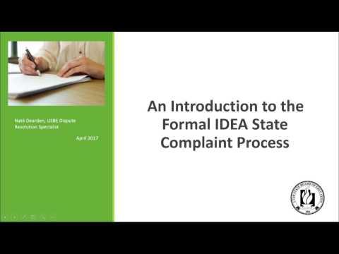 IDEA State Complaint