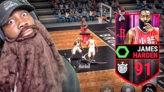 91 COUNTDOWN JAMES HARDEN IS A BEAST! NBA Live Mobile 16 Gameplay Ep. 36