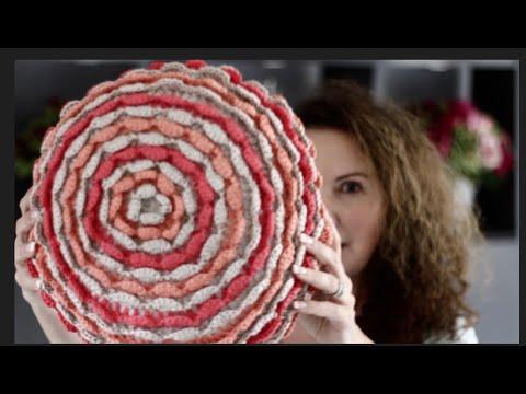 Blooming Flower Crochet Pillow Tutorial Youtube