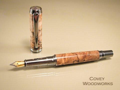 Penturning - Making A Double Barrel Wood Fountain Pen