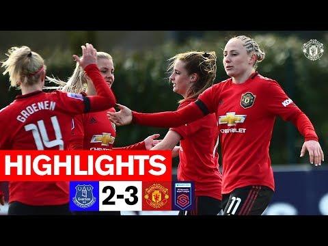 Women's Highlights | Everton 2-3 Manchester United | FA Women's Super League