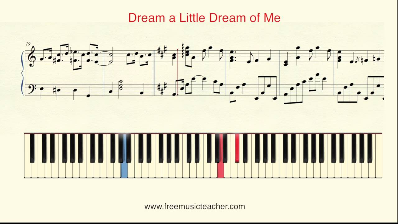 """How To Play Piano: Yiruma """"Dream a Little Dream of Me"""