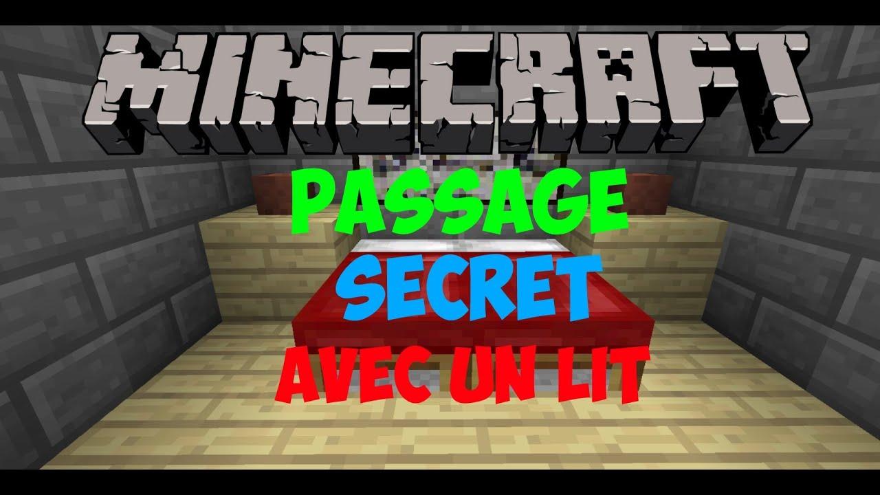 Glitchcraft fr faire un passage secret gr ce un lit traverser un toit 1 7 1 8 youtube - Faire un lit minecraft ...