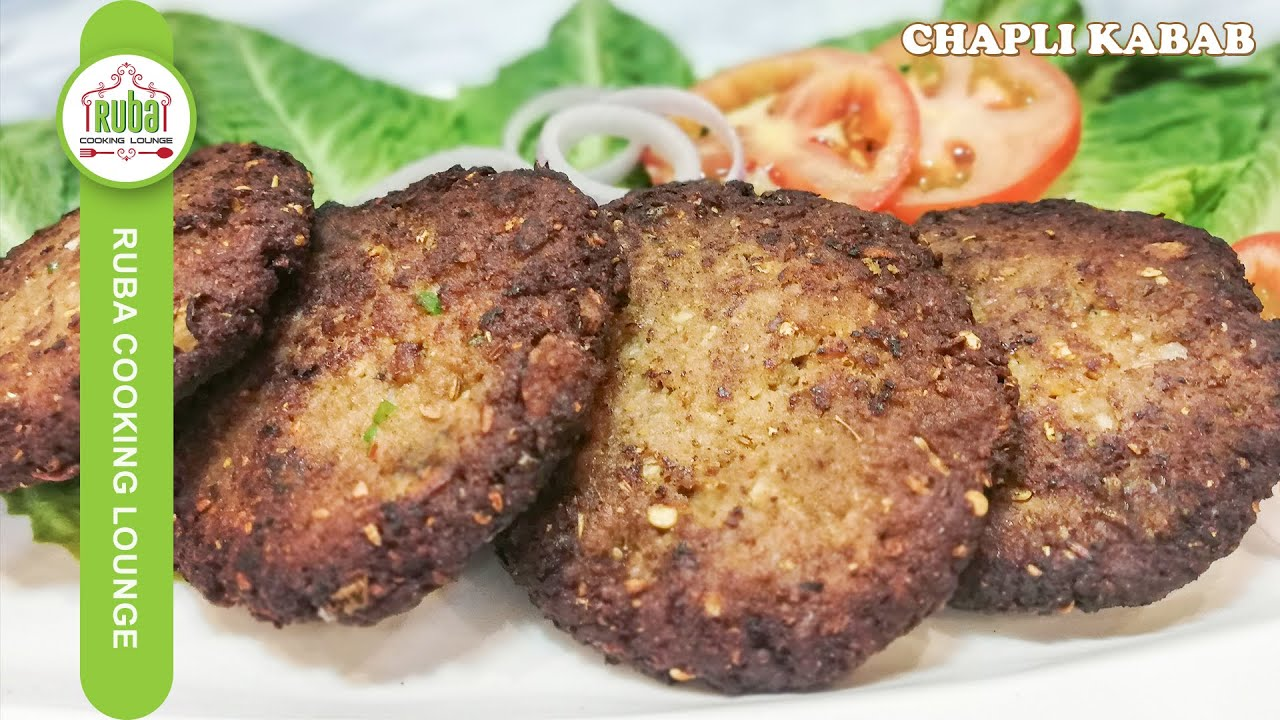 Chapli Kabab Recipe by Ruba Cooking Lounge | How to make Chapli Kabab | Bakra Eid Special
