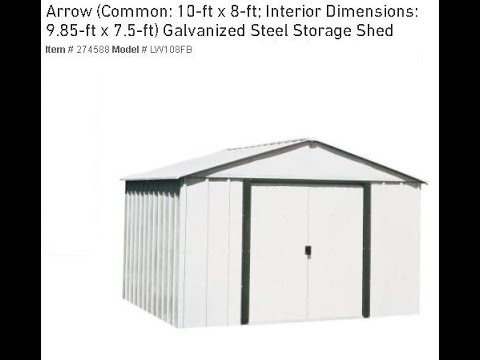 Metal Shed Building Kit   - One Man Job - Instructions, Help, Suggestions and Review