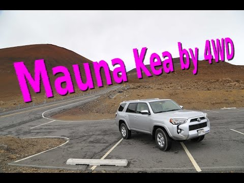 Driving to summit of Mauna Kea, tallest mountain in the world (Hawaii)