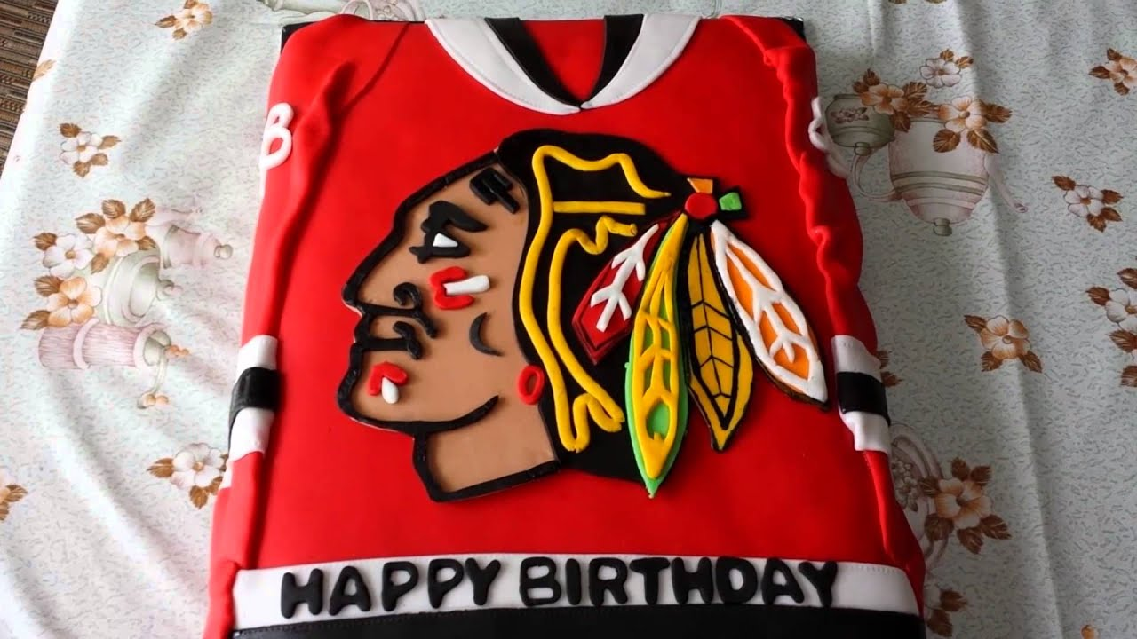 Nhl Chicago Blackhawks Hockey Jersey Cake Youtube
