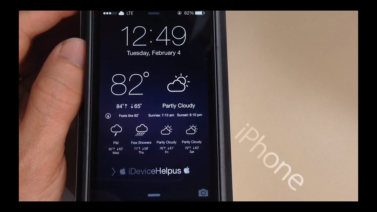 How To Get Live Weather On Your Iphone Lockscreen In Ios 7