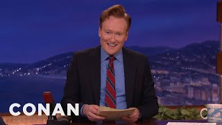 conan announces his trip to south korea conan on tbs