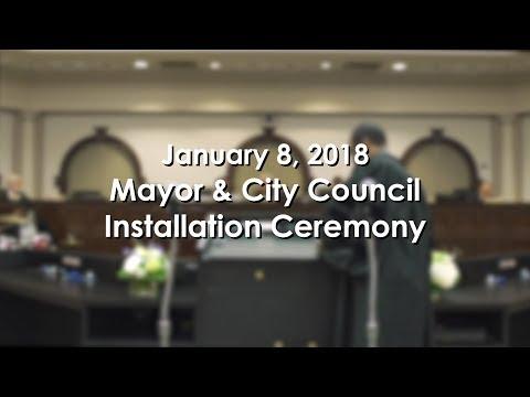 Mayor & City Council Installation Ceremony