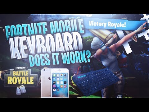 TRYING A BLUETOOTH KEYBOARD ON FORTNITE MOBILE???