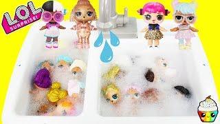 LOL Dolls Bubble Bath Time Dress Up In Kitchen Sink