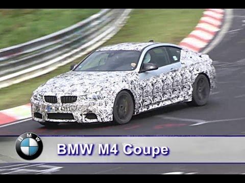 Remplaçante de laM3 Coupé, laM4 se dégourdit les jantes sur le grand circuit du Nürburgring. Elle nous fait ainsi profiter des vocalises de son six-cylindres en ligne turbocompressé.