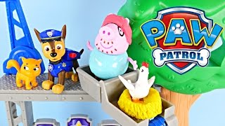Paw Patrol Police Academy Rescue Training Center Peppa Pig Saves The Day Nickelodeon Toys (play Doh)