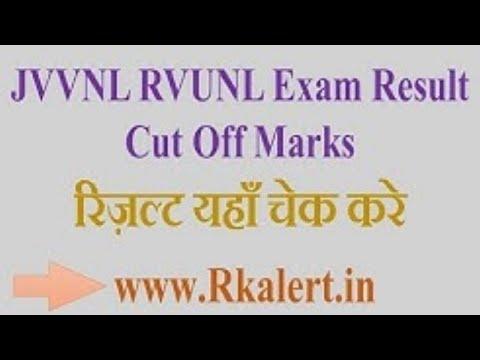 JVVNL Technical Helper Cut Off Marks Merit List Result  - energy.rajasthan.gov.in