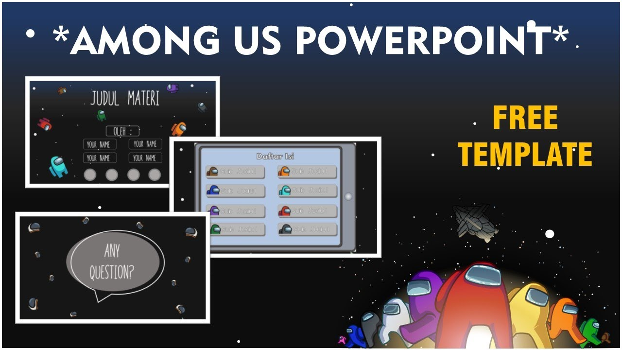 Powerpoint Among Us Free Template Aesthetic Powerpoint By Lifiae Youtube