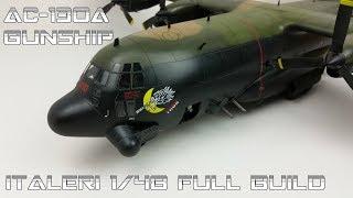 FULL VIDEO BUILD Italeri 1/48 C-130 Hercules Gunship