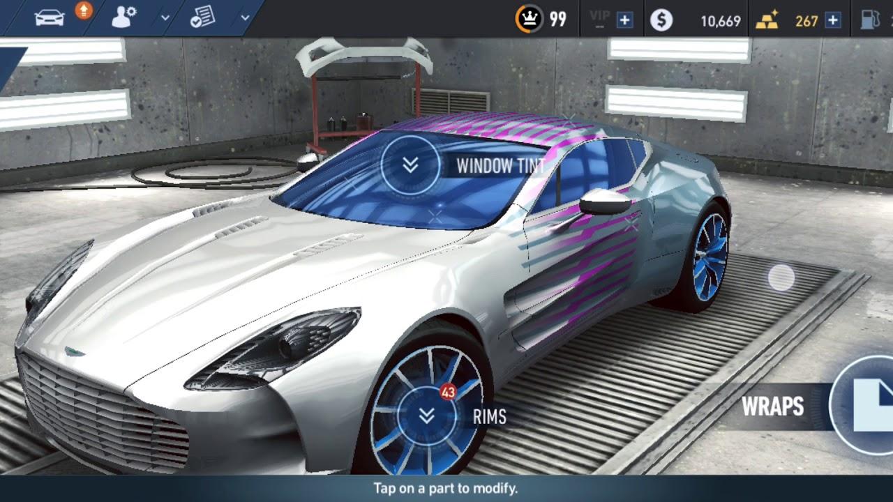 Aston Martin One 77 Modshop Customisation Nfs No Limits Youtube