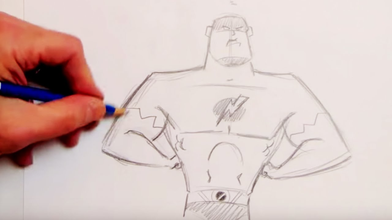 How To Draw A Superhero Step By Step Youtube