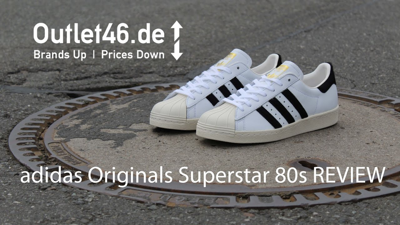 adidas Sneaker Originals Superstars 80s RUN DMC Style  ! DEUTSCH l Review l  On Feet l Outlet46 1fd32cd02c84