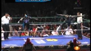 CMLL: Volador Jr., La Máscara, La Sombra vs. Averno, Mephisto, Ephesto, 2009/09/18