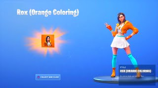 "FORTNITE SEASON 9 ROX ""ORANGE COLORING"" STYLE UNLOCKED! FORTNITE SEASON 9 ROX MAX STYLES UNLOCKED"