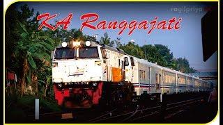 Kereta Api Ranggajati Eksekutif Bisnis Keluar Masuk Stasiun Purwokerto