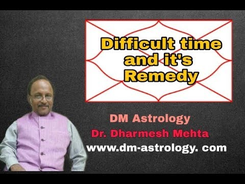 Difficult time and its Remedies by Dr Dharmesh Mehta