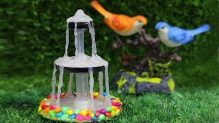 How to make Tabletop Water Fountain using Hot Glue || Hot Glue Crafting