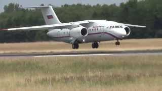 Rossiya An-148 (RA-61706) Landing and Takeoff at Hamburg Airport