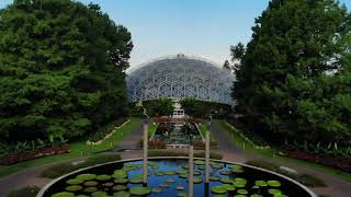 The Climatron and Central Axis Water Lily Pools