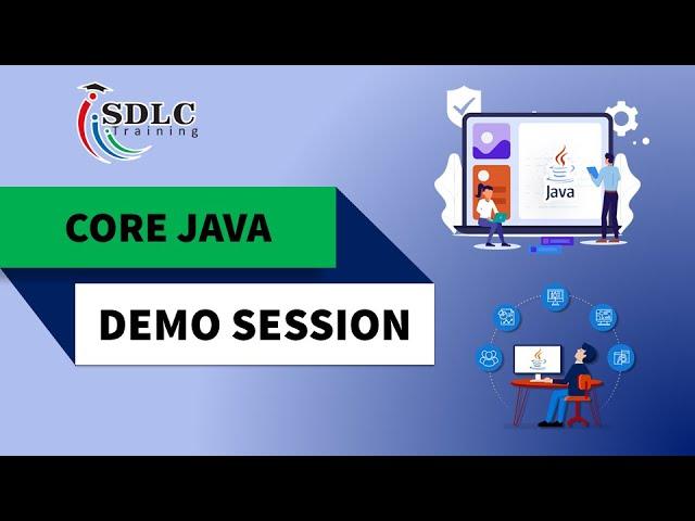 Core Java Demo Tutorial   SDLC Training Marathahalli
