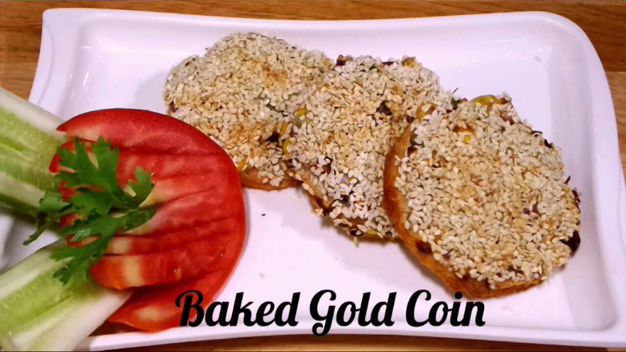 Baked Gold Coin Recipe/Party Appetizer/Quick Snacks.RECIPE #264