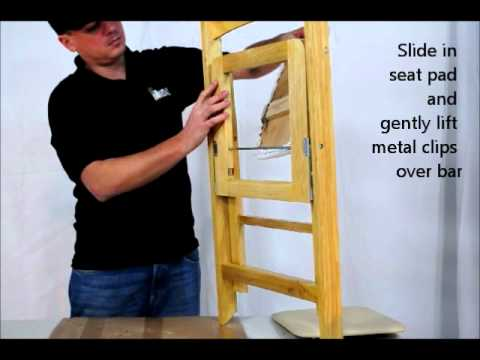 folding wood chair pod ikea midas event supply comfort seat pad assembly instructions video - youtube