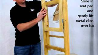Midas Event Supply Comfort Wood Folding Chair Seat Pad Assembly Instructions Video