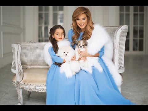 Ксения Бородина с дочкой Марусей в одинаковых нарядах