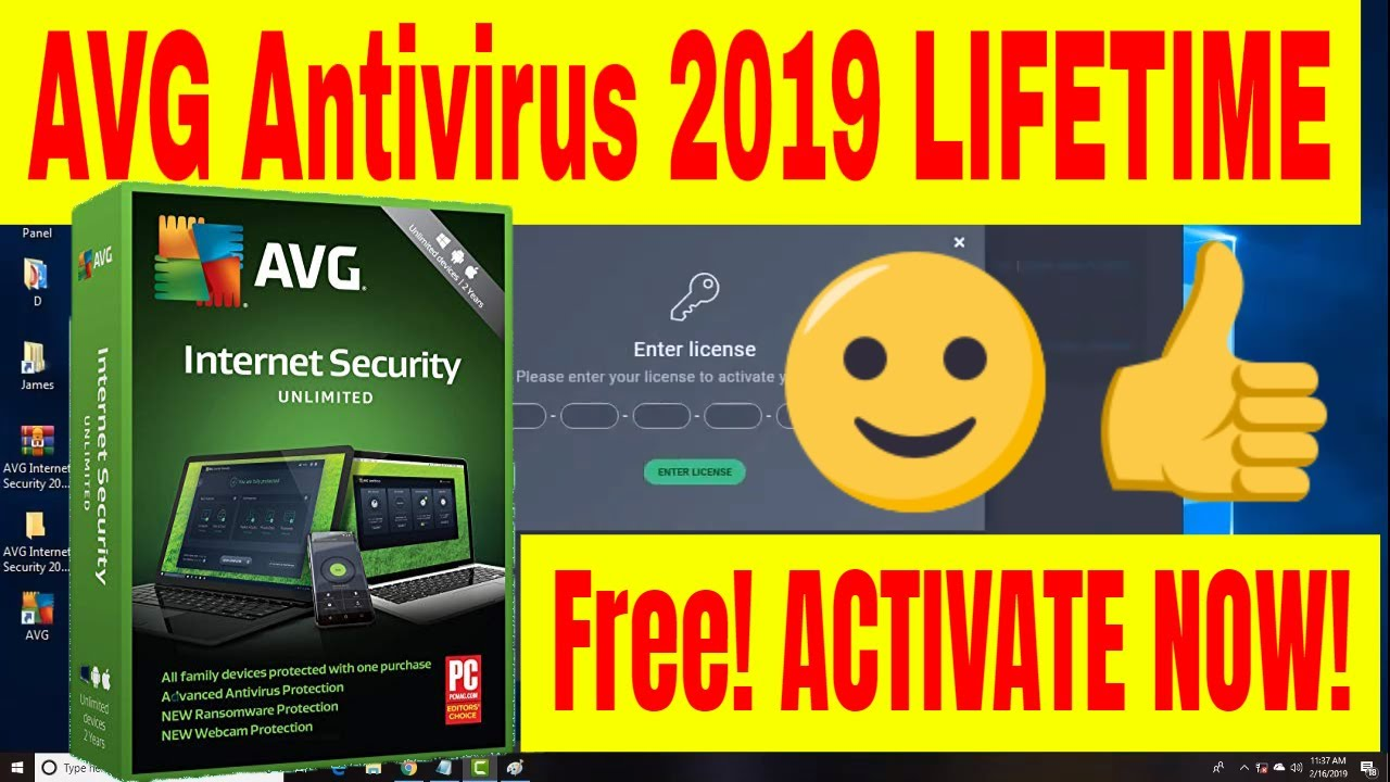AVG Internet Security 2019 Lifetime Activation Serial Key - AVG License Key