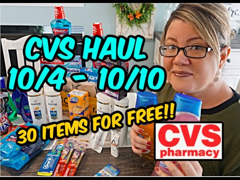 CVS HAUL (10/4 – 10/10) | 30 ITEMS FOR FREE!!!!  💃